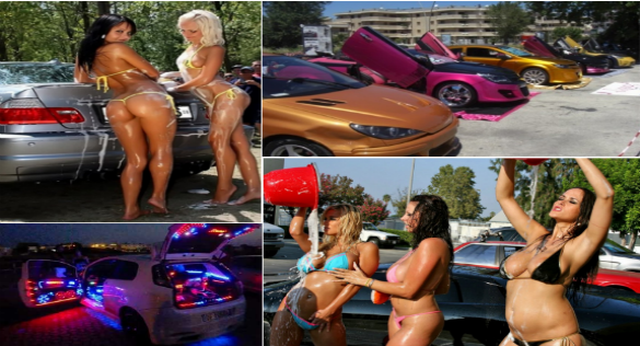 collafe festa dei motori bikini car wash - autotuning-2