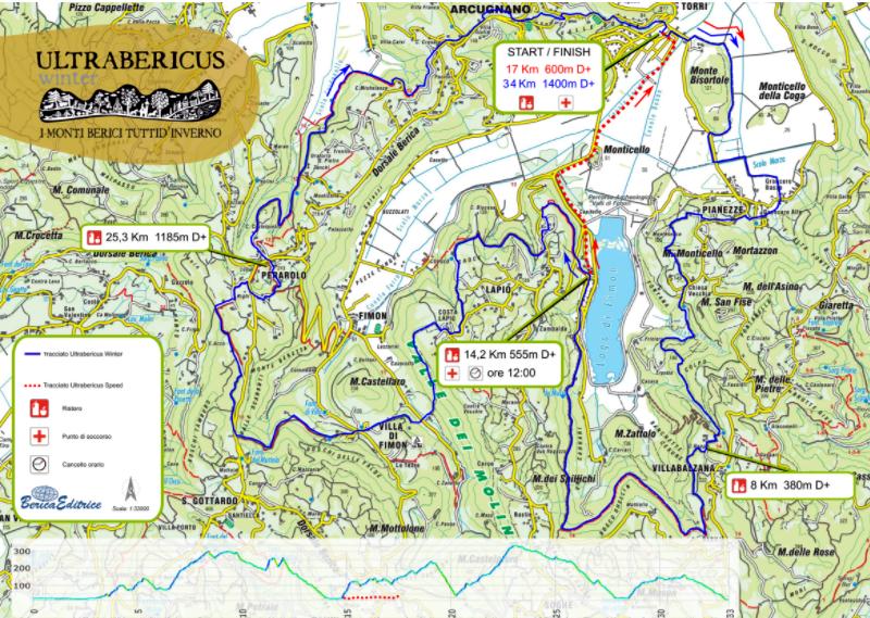 Monti Berici Cartina Italia.2 Ultrabericus Winter Percorsi Di 17 E 34 Km Sui Colli Berici Eventi A Vicenza
