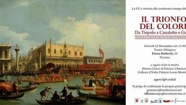 """""""Il Trionfo del Colore. Da Tiepolo a Canaletto e Guardi. Vicenza e i Capolavori dal Museo Puskin di Mosca"""""""