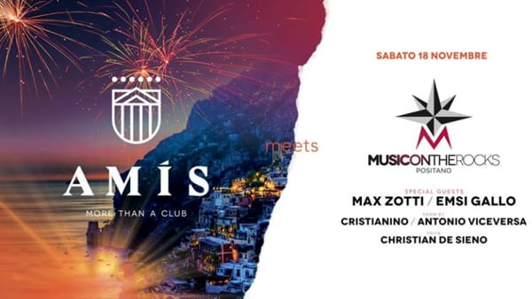 """Music On The Rocks"" da Positano all'Amis More Than a Club di Vicenza"