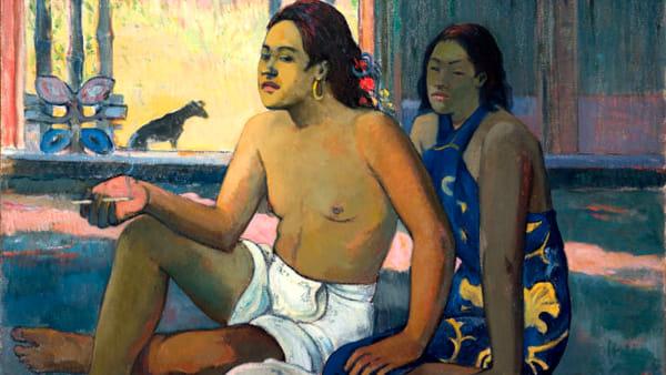 Paul Gauguin: tahitiani in una stanza a Palazzo Leoni Montanari