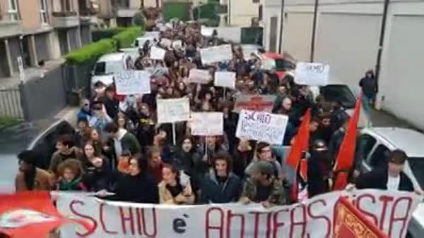 Salvini a Schio: la contestazione