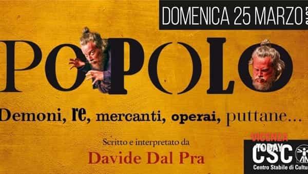 """""""Popolo"""": uno spettacolo di Davide Dal Prà al CSC di San Vito di Leguzzano"""