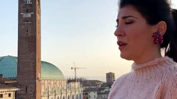 """""""Forza Vicenza ci rialzeremo più forti di prima"""", l'abbraccio in musica di Claudia Pavone"""
