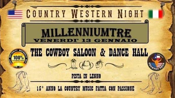 """""""Country Western Night"""": cowboy saloon & dancehall al """"Millennium Tre"""" di Creazzo"""