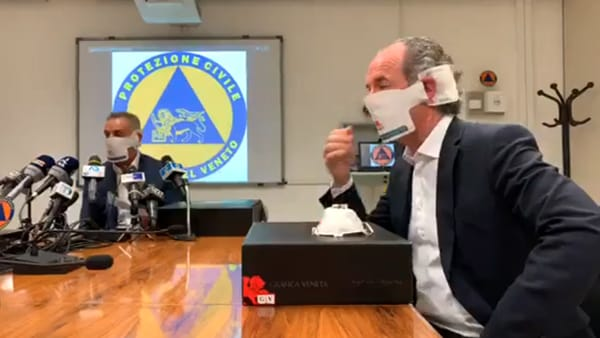 """Coronavirus, arrivano le mascherine made in Veneto: """"2 mln di pezzi distribuiti gratuitamente"""""""