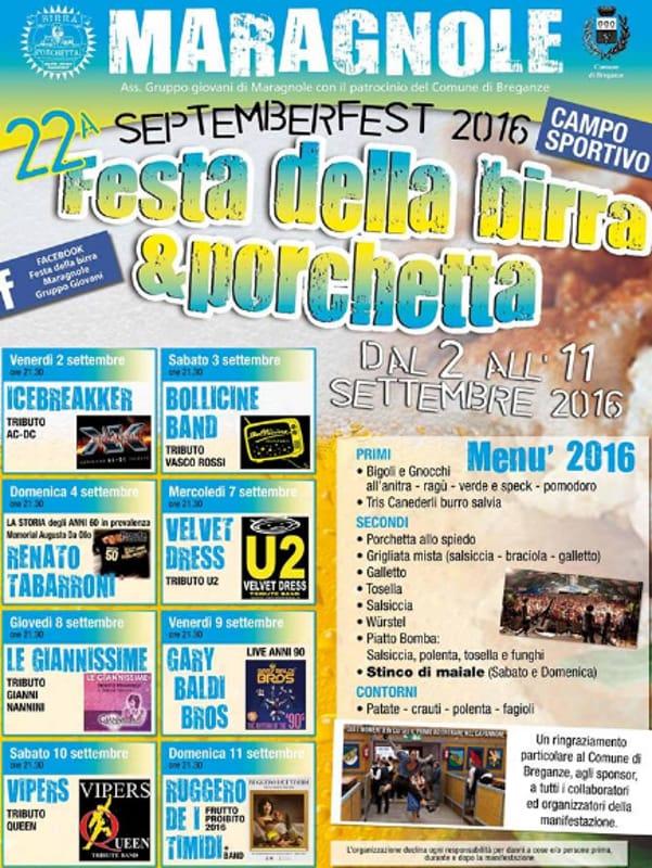 """Locandina """"September Fest-Festa della Birra e della Porchetta"""" (foto facebook)"""