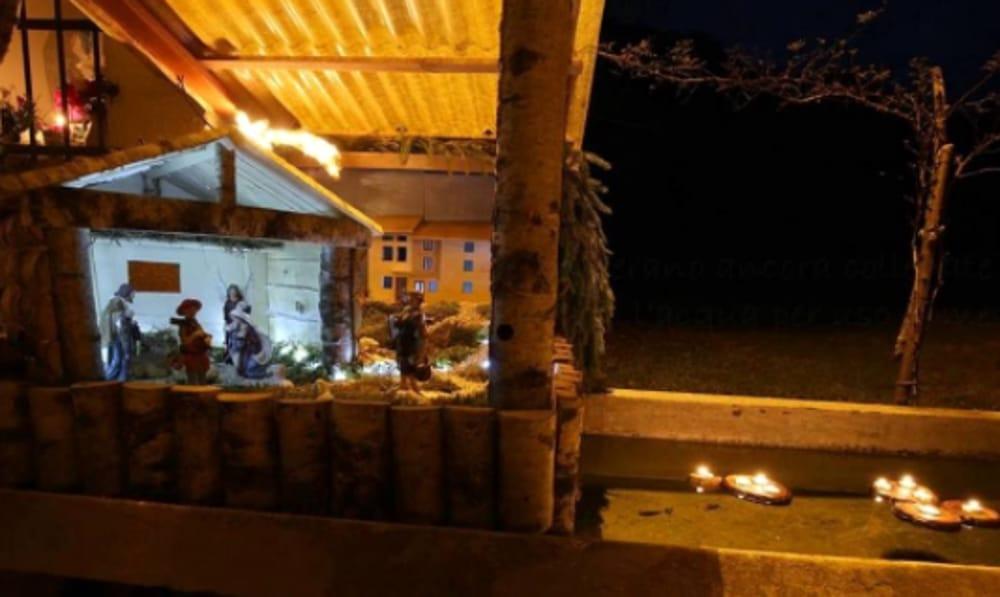 Presepe nelle fontane a Campodalbero di Crespadoro (immagini di archivio)