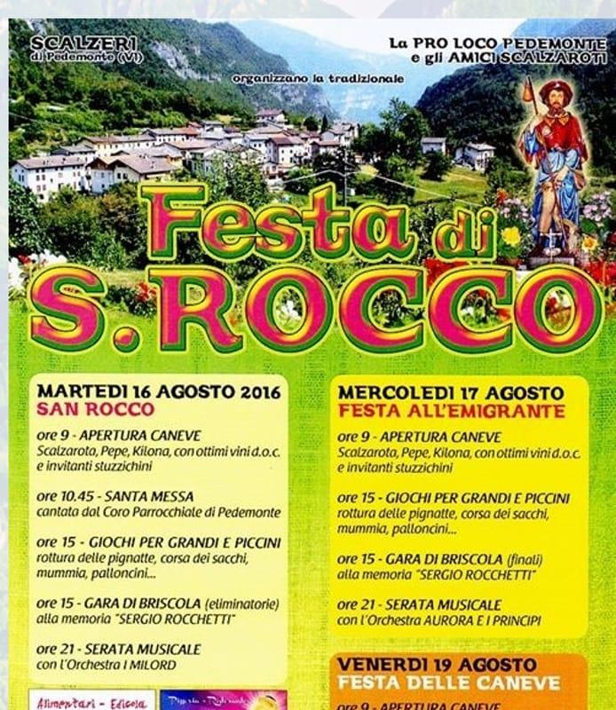 """Locandina """"Festa di San Rocco"""" (immagini di archivio)"""