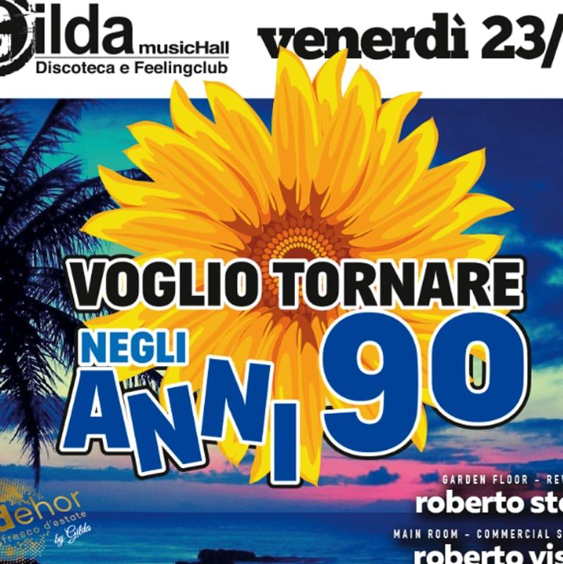 """Locandina """"Voglio Tornare negli Anni '90"""" (foto facebook)"""