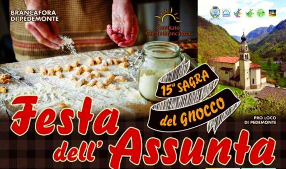 Locandina Festa dell'Assunta e Sagra del Gnocco (foto facebook)