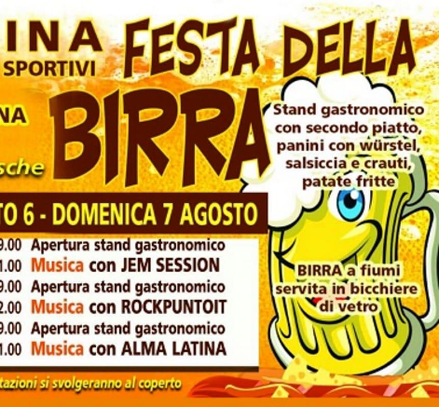"Locandina ""Festa della Birra"" (foto facebook)"