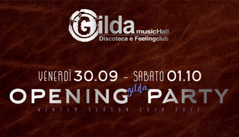 "Locandina ""Opening Party"" (foto facebook)"
