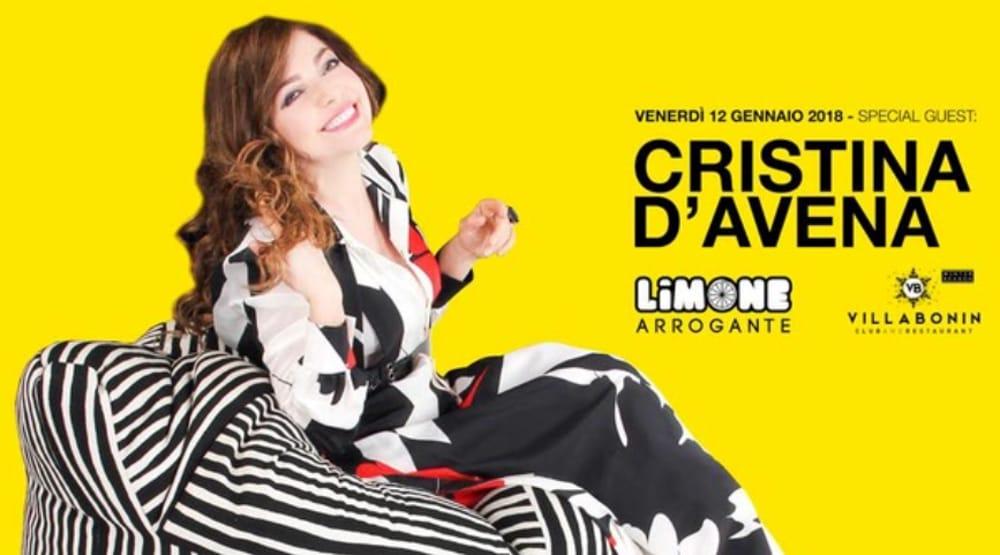 Cristina D'Avena nella locandina Limone Arrogante (foto facebook)