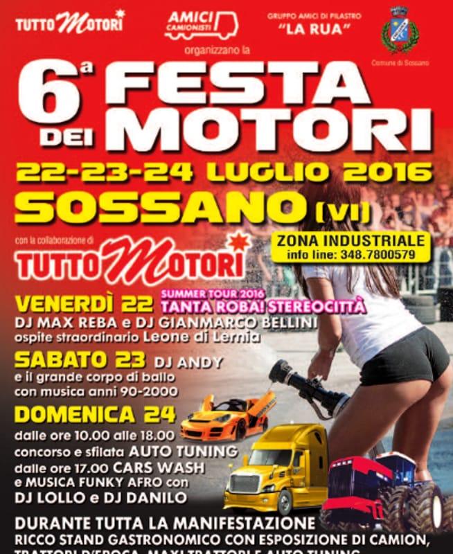 """Locandina """"Festa dei Motori"""" (foto facebook)"""