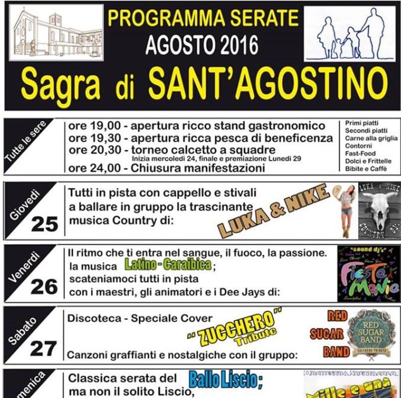 """Locandina """"Sagra di Sant'Agostino"""" (immagini di archivio)"""