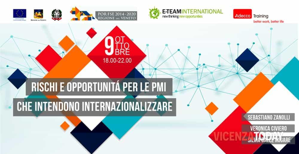 """""""Rischi e opportunità per le PMI che intendono internazionalizzare"""" a Thiene (immagini di archivio)"""