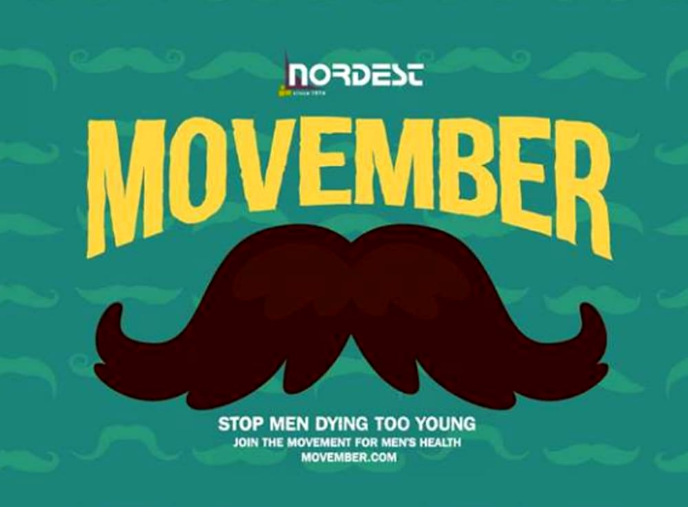 "Locandina ""Movember Party"" (foto facebook)"