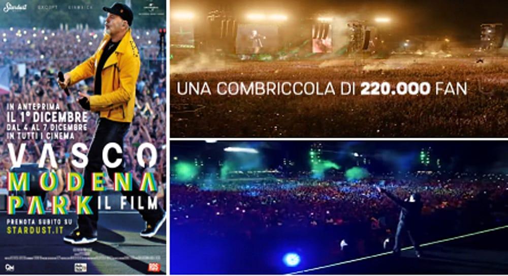 """Collage trailer di """"Vasco Modena Park"""" (immagini di archivio)"""