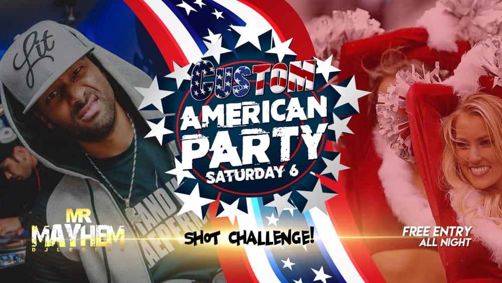 American Party con Shot Challenge (foto facebook)