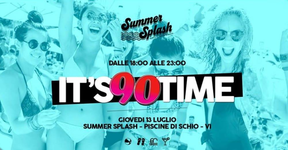 "Summer Splash Pool Party: ""90 Time"" (foto facebook)"