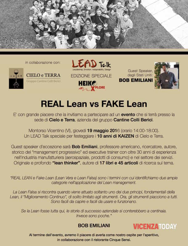 "Locandina ""Real Lean vs Fake Lean"""
