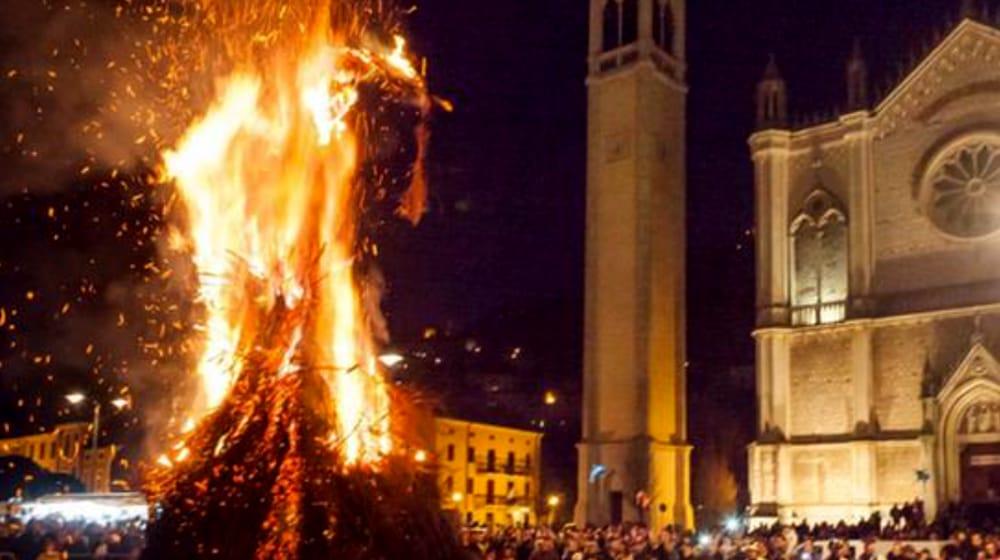Processo e Rogo alla Stria a Montecchio Maggiore (immagini di archivio)