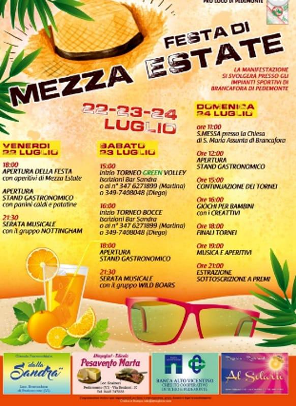 """Locandina """"Festa di Mezza Estate"""" (foto facebook)"""