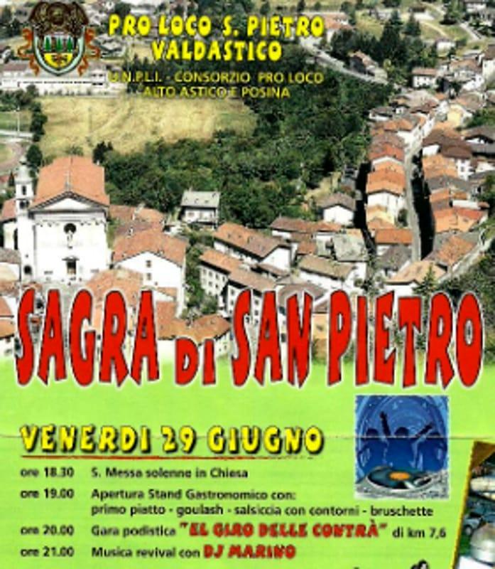 "Locandina ""Sagra di San Pietro"" (foto facebook)"