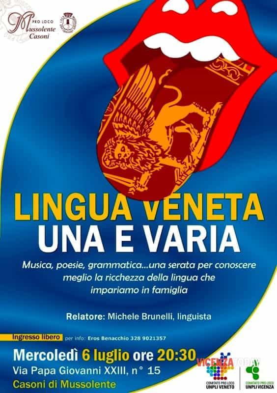 """Locandina """"Lingua Veneta Una e Varia"""" (immagini di archivio)"""