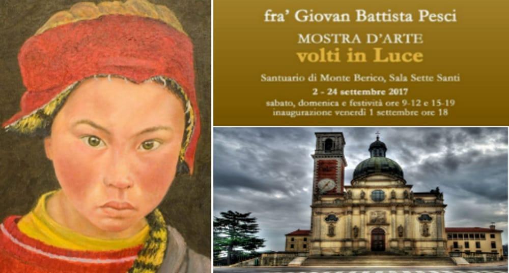 """Collage fotografico """"Volti In Luce"""" di Frà Giovan Battista Pesci (immagini di archivio)"""