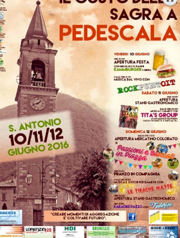 Locandina Sagra di Sant'Antonio (foto facebook)