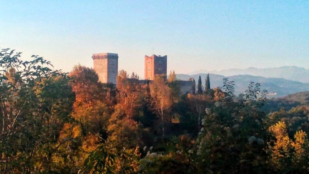 Castelli di Romeo e Giulietta (immagini di archivio)r