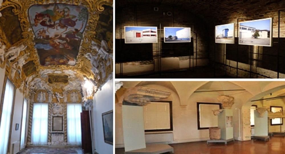 Collage Gallerie d'Italia - Palazzo Chiericati - Museo Archeologico Naturalistico (immagini di archivio)