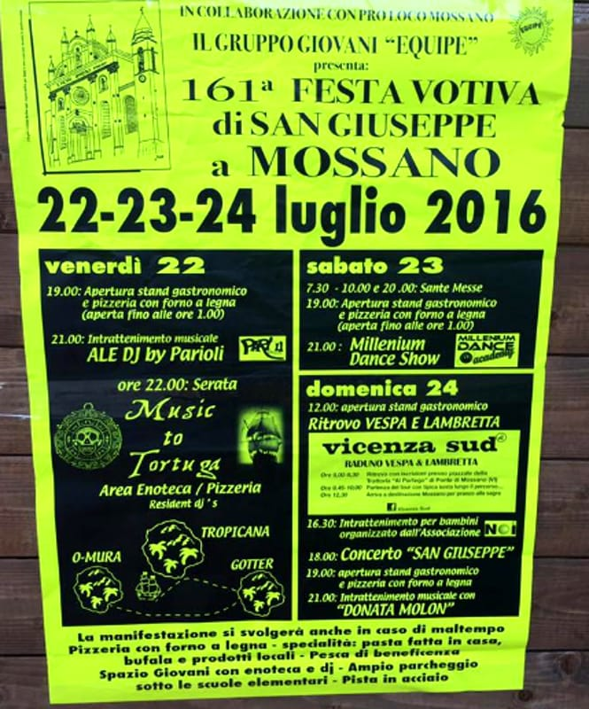 "Locandina ""Festa Votiva di San Giuseppe"" (foto facebook)"