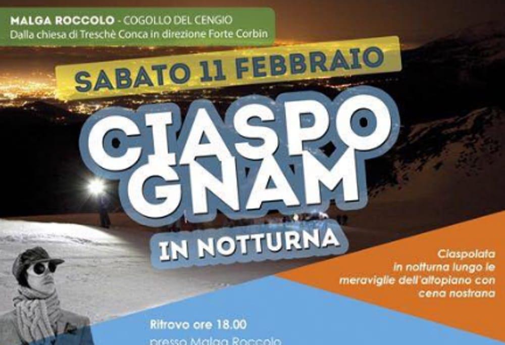 """Locandina """"Ciaspo Gnam"""" (foto facebook)"""