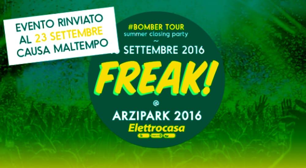 "Locandina ""Freak Bomber Tour Summer Closing Party"" (foto facebook)"