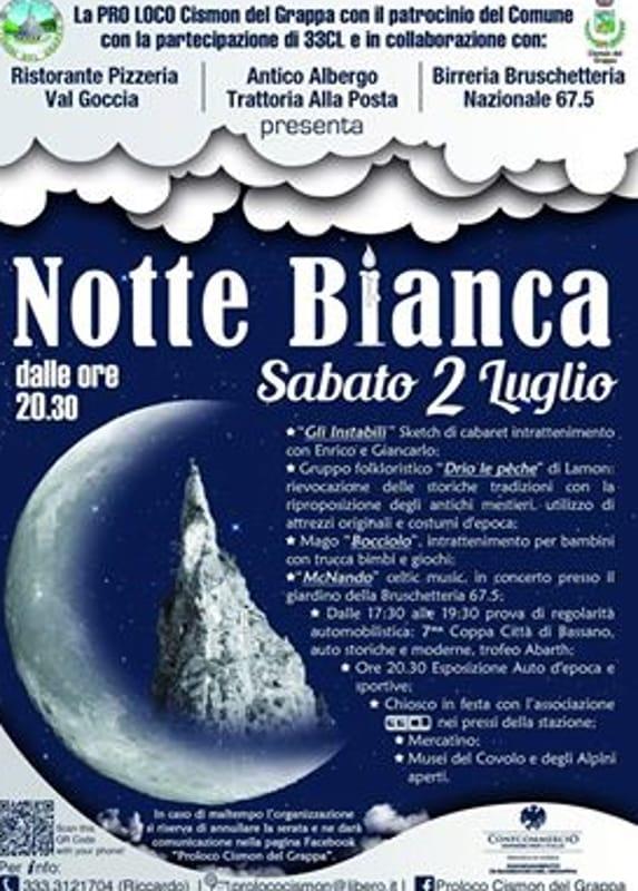 """Locandina """"Notte Bianca"""" (foto facebook)"""