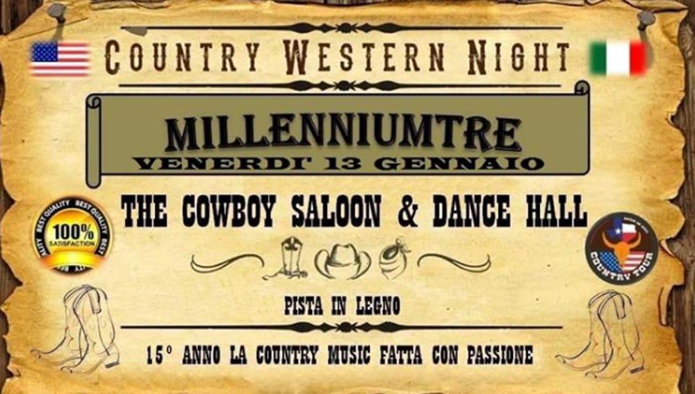 """Locandina """"Country Western Night"""" (immagini di archivio)"""