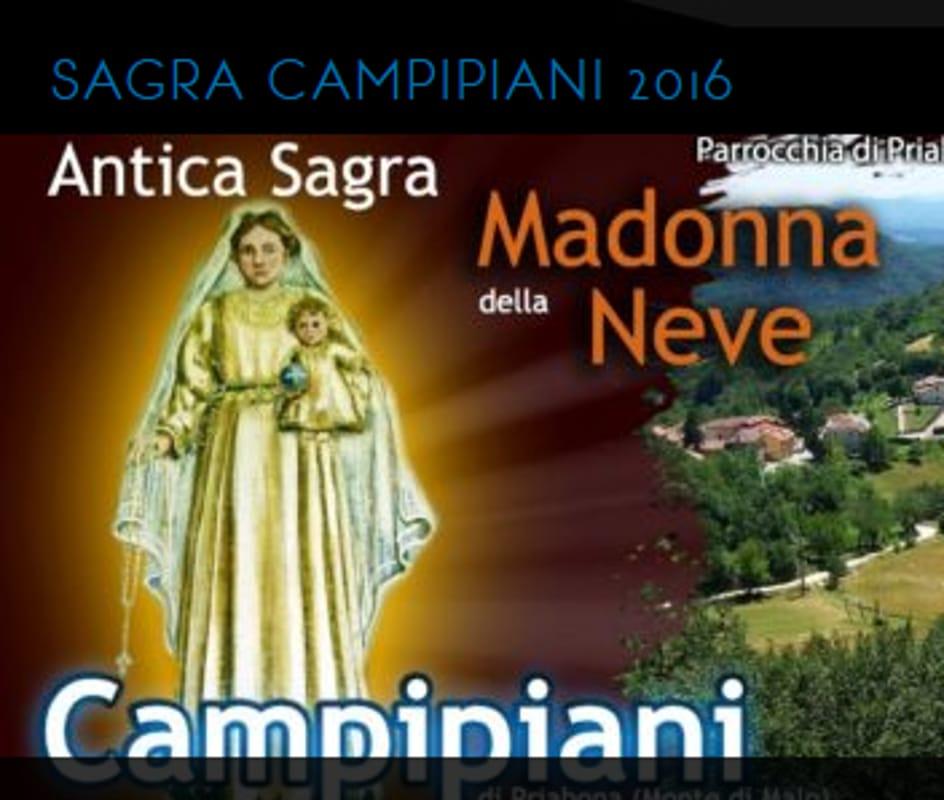 """Locandina """"Antica Sagra della Madonna della Neve"""" (immagini di archivio)"""